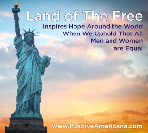 شارك مع العائلة والأصدقاء المتشابهين في التفكير #landofthefree #equality #positiveamericana www.PositiveAmericana.com