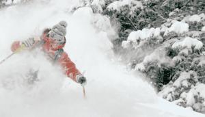 ski snow deep powder snow mountain skiing
