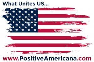 bandera americana positiva