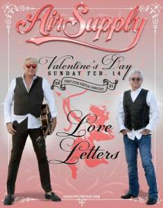 Air Supply online Concert for Valentine's Day sends love letters
