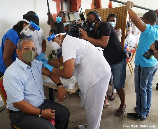 National COVID-19 Immunization Campaign begins in Seychelles