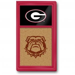 Georgia Bulldogs: Dual Logo - Cork Note Board