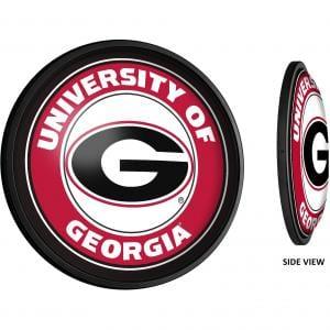 Georgia Bulldogs: Round Slimline Lighted Wall Sign