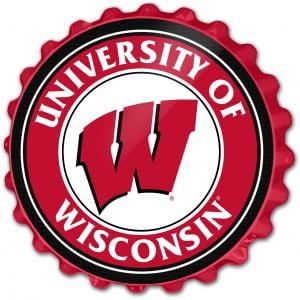 Wisconsin Badgers: Bottle Cap Wall Sign