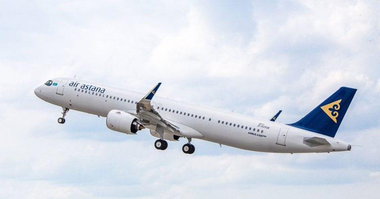 Air Astana dia mandefa ny sidina Frankfurt-Atyrau