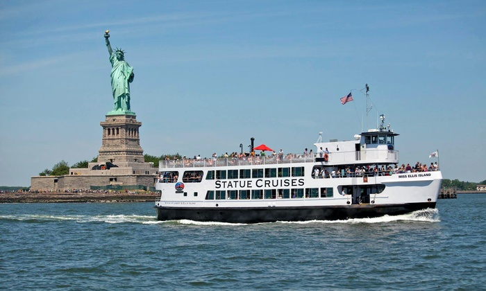 رحلات التمثال البحرية لتقديم خدمة العبارات إلى تمثال الحرية وجزيرة إليس