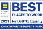 """Kita aviakompanija įtraukta į 2021 m. """"Geriausių LGBTQ lygybės darbe vietų"""" sąrašą."""
