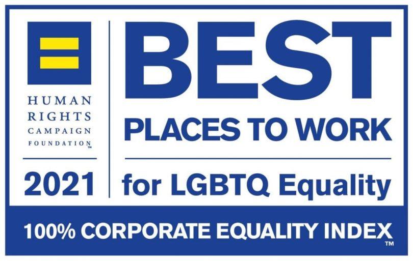 別の航空会社が2021年の「LGBTQの平等のために働くのに最適な場所」のリストに追加されました