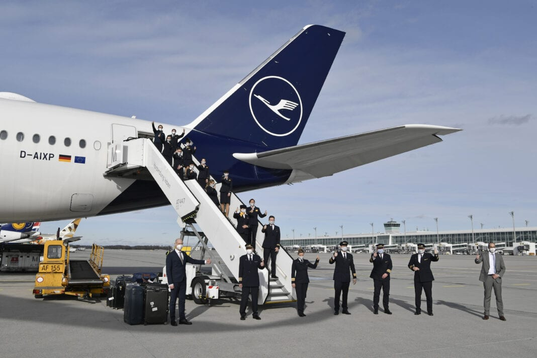 Lufthansa completes record-breaking flight