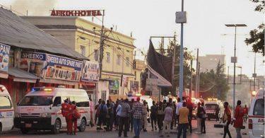 Op d'mannst néng Leit am Mogadishu Afrik Hotel Terrorattack ëmbruecht