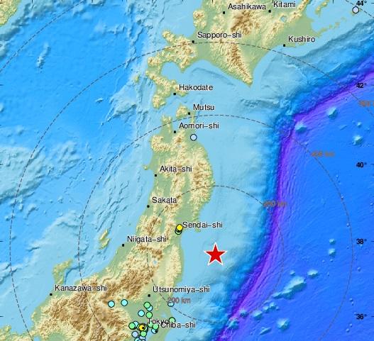 Ο σεισμός τεράστιου μεγέθους 7.1 λικνίζει το Τόκιο και τη Φουκουσίμα