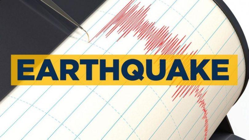 Sterk aardbewing tref die streek Nieu-Brittanje, Papoea-Nieu-Guinea