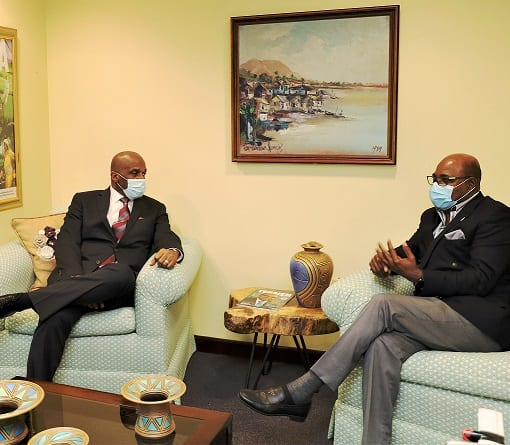 Hon. Edmund Bartlett meets with Executive Director of Integrity Commission