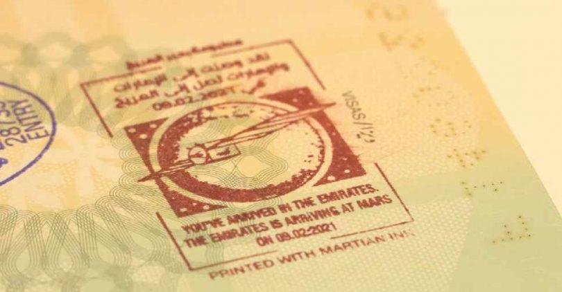 UAE visitors receive 'Martian Ink' passport stamp upon arrival