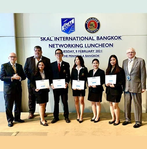 Tourism students learning from Skal Bangkok leaders