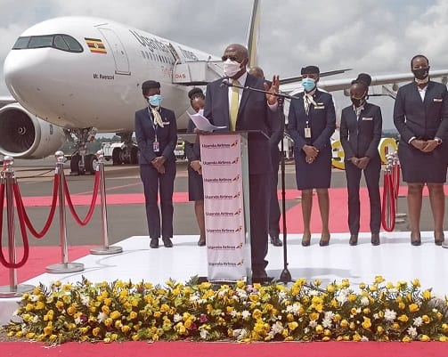 New Uganda Airlines aircraft arrives full of medical hope