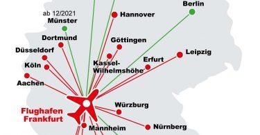 Lufthansa ja Deutsche Bahn tutvustavad Frankfurdi lennujaama ülikiireid DB Sprinteri ronge