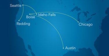 Bidh Alaska Airlines a 'leudachadh seirbheis le tursan-adhair ùra Boise, Chicago, Idaho Falls agus Redding