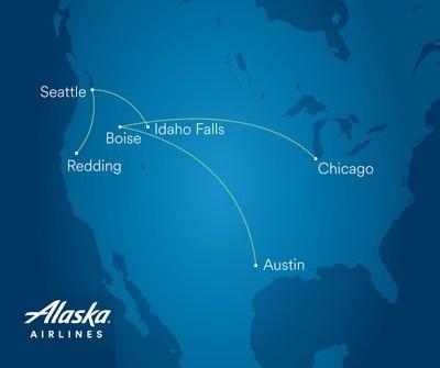 Alaska Airlines yangi Boise, Chikago, Aydaho Falls va Redding reyslari bilan xizmatni kengaytiradi