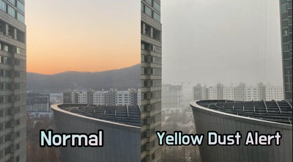 Etelä-Koreen pöly
