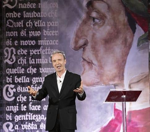 Benigni lexon Dante në Quirinale