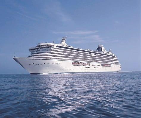 Crystal Cruises lanseeraa lähellä sijaitsevia Bahama-alueita, jotka pakenevat Nassausta ja Biministä