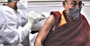 Dalai Lama receives COVID-19 vaccine and urges courage