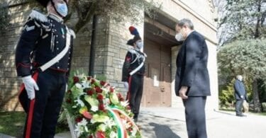 Italy PM pays respects at the Day of the Victims of COVID