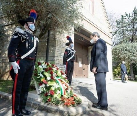 Italiens premierminister respekterer dagen for ofrene for COVID