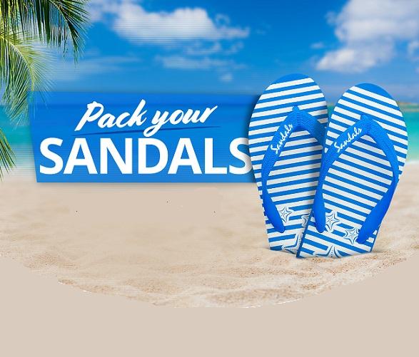 अपने सैंडल और सैंडल के लिए सिर पैक करें - कैरेबियन में