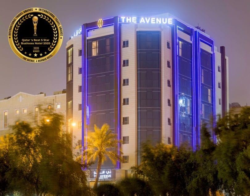Hotel Avenue, A Murwab dobitnik je najboljeg katarskog poslovnog hotela s pet zvjezdica u Kataru na International Travel Awards
