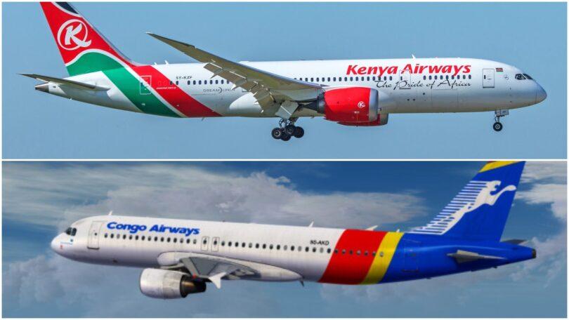 Kenya Airways saini saini codeshare ma Congo Airways