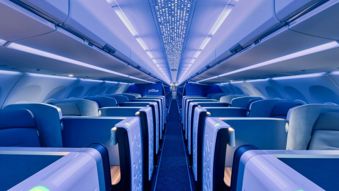 JetBlue tar imot Airbus A321LR med første Airspace-interiør