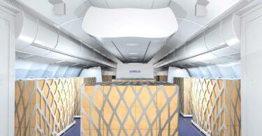 Tairgeann Airbus agus Lufthansa Technik Lasta sealadach sna réitigh Cábáin