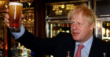 Come Monday the UK Minister will be in a pub