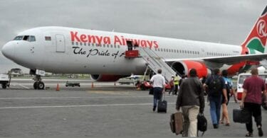 Penerbangan Kenya Airways terakhir London