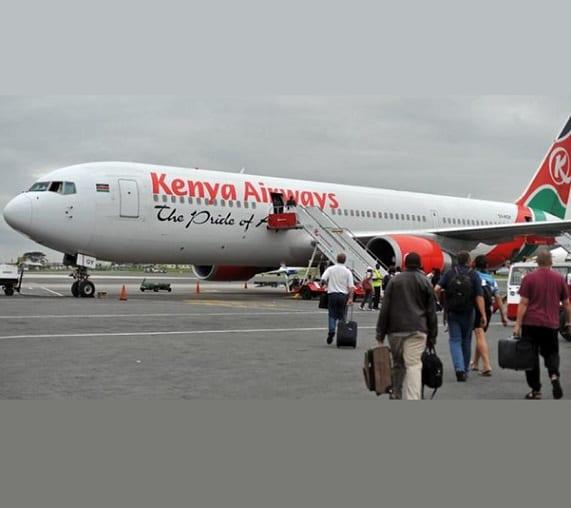 کینیا ایئرویز کی لندن کی آخری پرواز