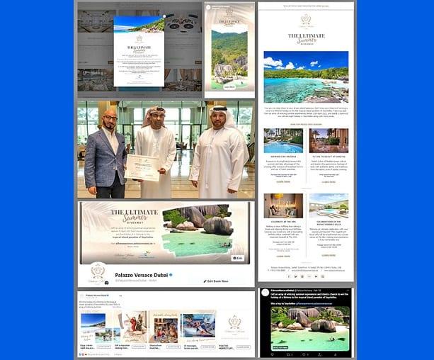 Tha Seychelles a 'nochdadh air Àrd-ùrlar E-Tiodhlac Palazzo Versace Dubai