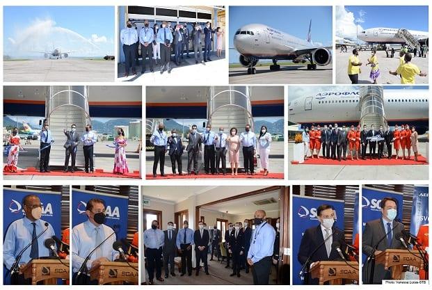 Aeroflot- ի առաջին թռիչքը ներքև է ընկնում Սեյշելներում