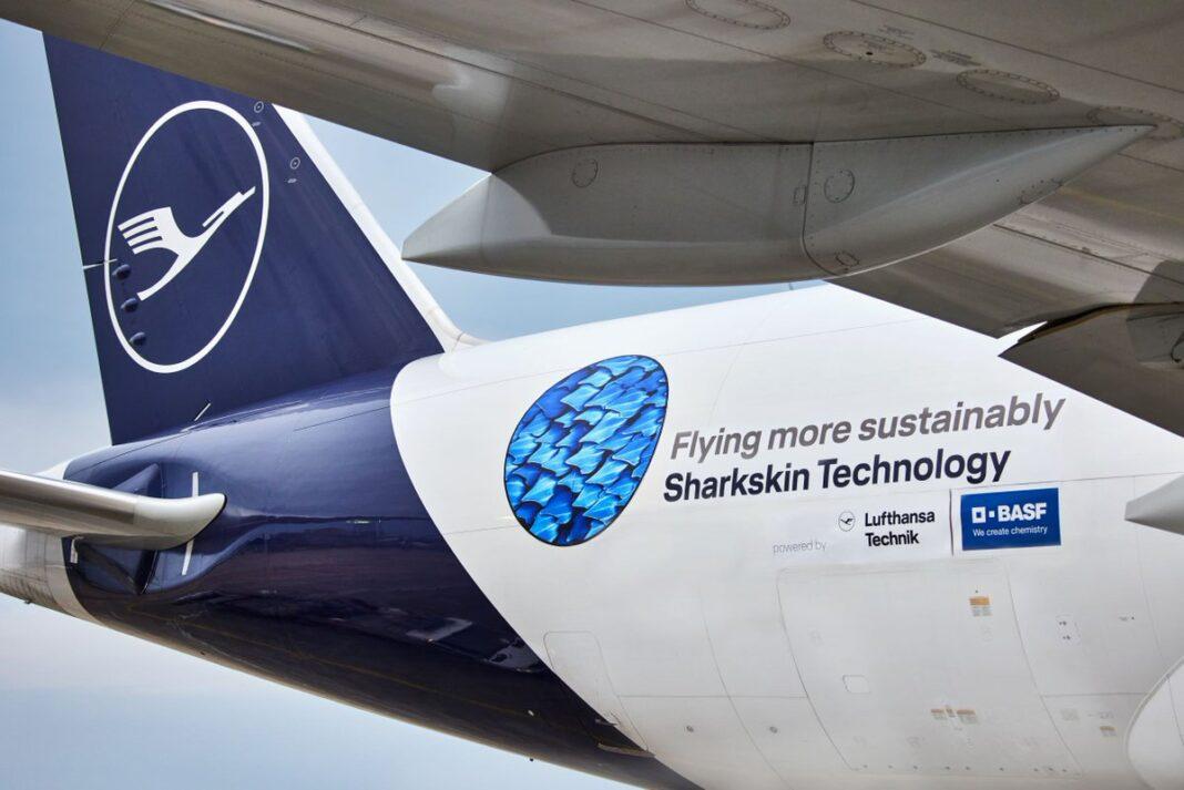 Lufthansa Group and BASF roll out sharkskin technology