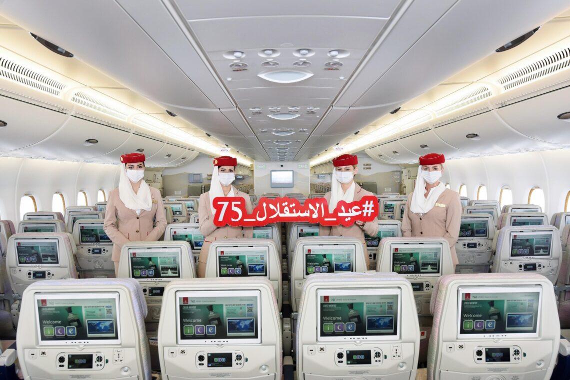 Az Emirates a jordániai függetlenség napját ünnepli járatai során