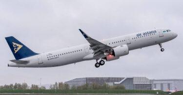 Air Astana neraskeun hiber antara Atyrau sareng Amsterdam