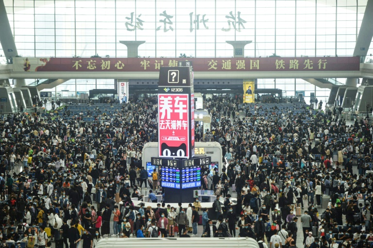 Kinas XNUMX. mai-ferie-rush setter nye rekorder