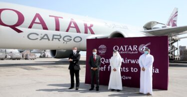 Qatar Airways Cargo convoy flies medical aid and equipment to India