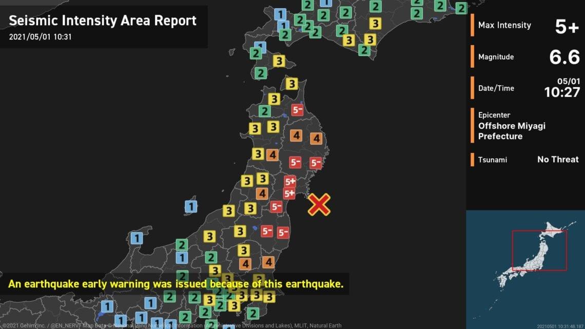 Dua gempa bumi ageung di Jepang, teu aya tsunami