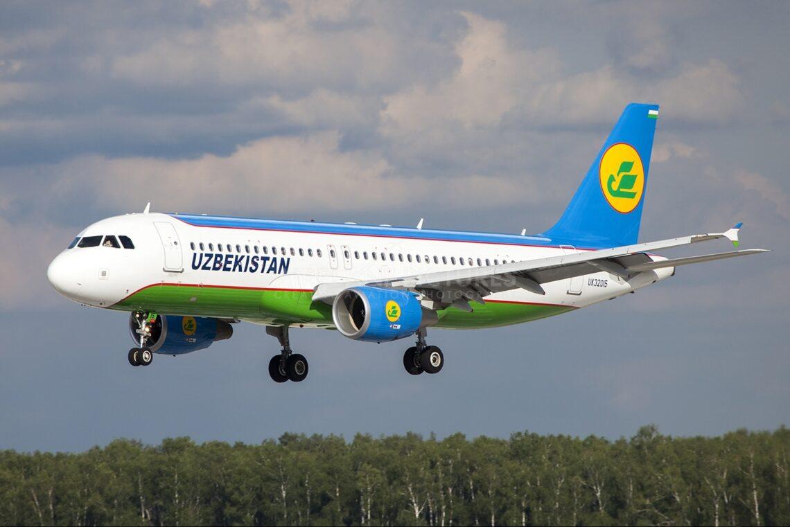 Uzbekistan Airways na-efe Tashkent ruo ọdụ ụgbọ elu Moscow Domodedovo
