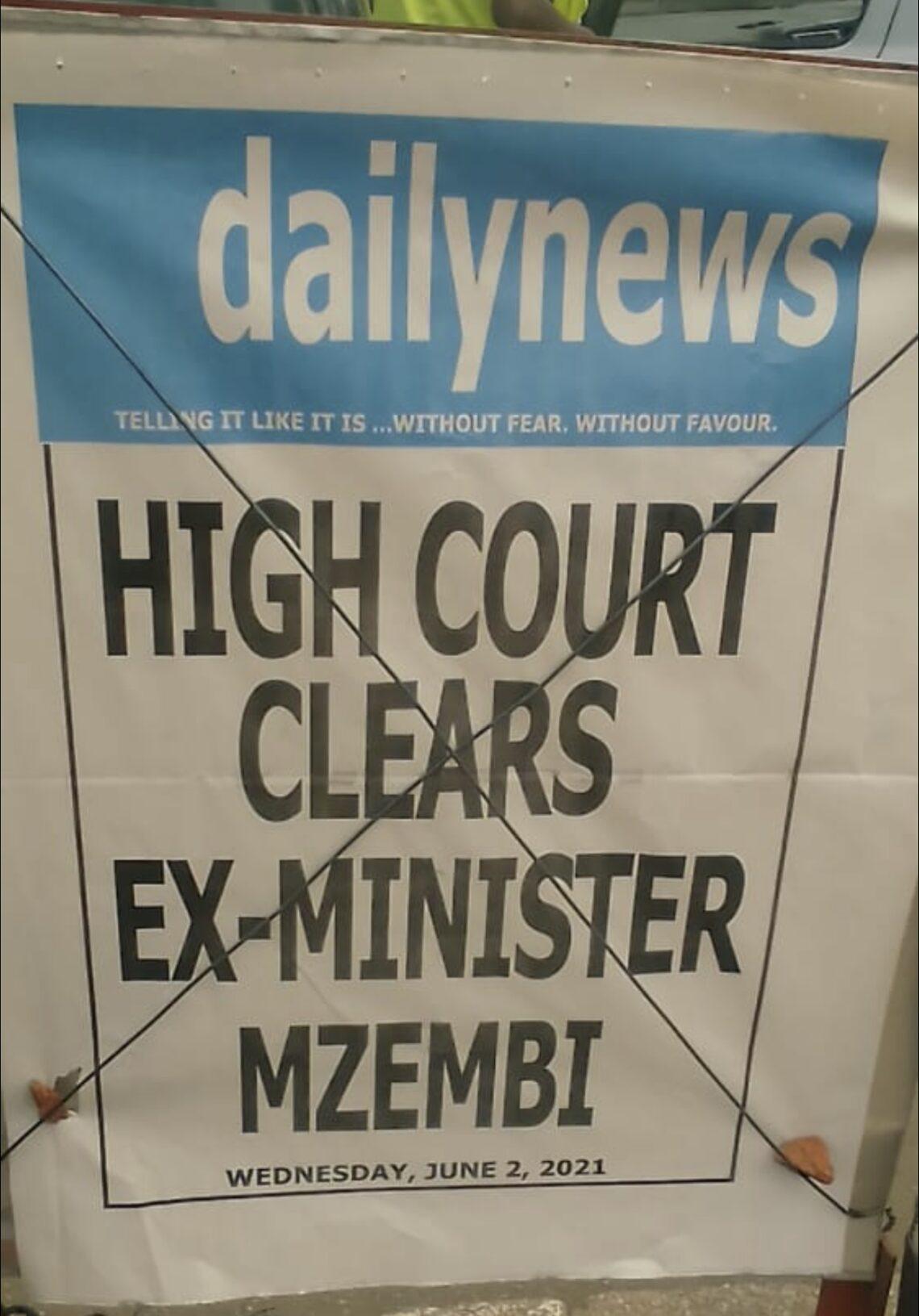 Ny minisitry ny fizahantany teo aloha Dr. Walter Mzembi dia tsy meloka tamin'ny fikarohana haza lambo nataon'ny UNWTO General Assembly tany Zimbabwe