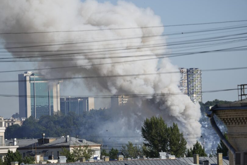 Multiple explosions rock central Moscow