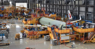 Airbus A320 онгоцны их биеийг тоноглох төслийг Хятадад эхлүүлжээ
