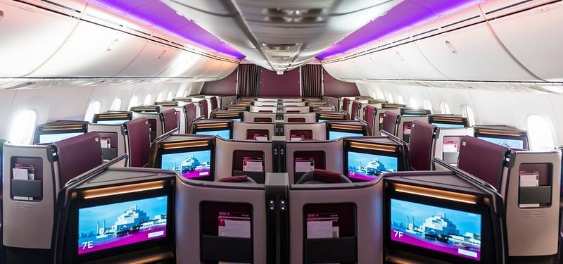 카타르 항공, 새로운 비즈니스 클래스 스위트로 새로운 보잉 787-9 드림 라이너 출시